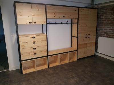 Mobilier bois-metal